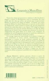 Cannabis et pavot au liban ; choix du développement et cultures de substitution - 4ème de couverture - Format classique