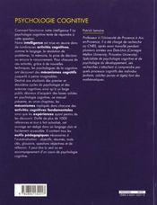 Psychologie Cognitive - 4ème de couverture - Format classique