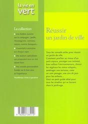 Reussir Un Jardin De Ville - 4ème de couverture - Format classique