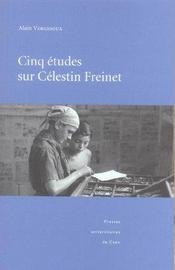 Cinq Etudes Sur Celestin Freinet - Intérieur - Format classique