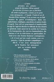 Pensees, Repliques Et Anecdotes - 4ème de couverture - Format classique