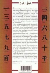 Numérologie chinoise - 4ème de couverture - Format classique