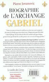 Biographie de l'archange gabriel t.2 ; l'ange qui aime les femmes - 4ème de couverture - Format classique