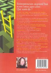 Entrepreneurs, aujourd'hui - 4ème de couverture - Format classique