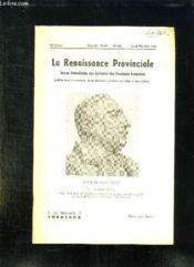 La Renaissance Provinciale N° 126 Avril Mai Juin 1959. Buste De Andre Berry Par Armande Marty. - Couverture - Format classique