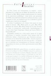 Marc Bloch - 4ème de couverture - Format classique