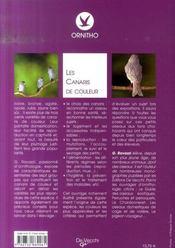 Les canaris de couleurs - 4ème de couverture - Format classique