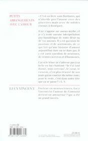 Petits arrangements avec l'amour - 4ème de couverture - Format classique