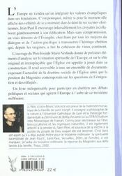 Le Christianisme Printemps De L'Europe - 4ème de couverture - Format classique