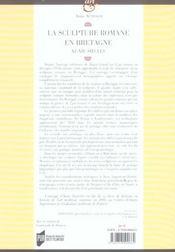 Scuplture Romane En Bretagne Xie-Xiie Siecles - 4ème de couverture - Format classique