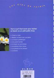 Bassins Et Petits Jardins - 4ème de couverture - Format classique