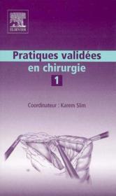 Pratiques validees en chirurgie - Couverture - Format classique