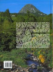 Volcans celebres et meconnus du massif central - 4ème de couverture - Format classique