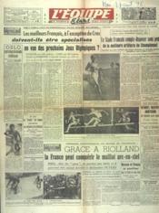 Equipe (L') N°138 du 27/08/1946 - Couverture - Format classique