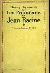 Les Premieres De Jean Racine - Couverture - Format classique
