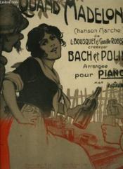 Quand Madelon - Chanson Marche Pour Piano. - Couverture - Format classique