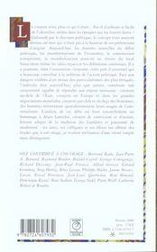 Le citoyen ; mélanges offerts à Alain Lancelot - 4ème de couverture - Format classique