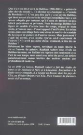 Paradoxe De Balthus (Le) - 4ème de couverture - Format classique