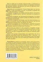 Ecritures Comptables (Les) - 4ème de couverture - Format classique
