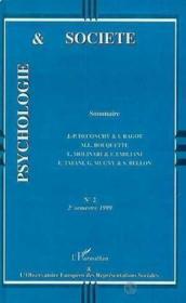 Psychologie Et Societe N.2 - Couverture - Format classique