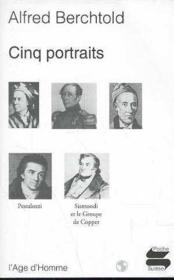 Cinq Portraits Ps162 - Couverture - Format classique