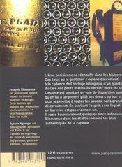 Au Vrai Zinc Parisien - 4ème de couverture - Format classique