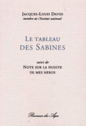 Le tableau des sabines et notes sur la nudit des heros - Couverture - Format classique