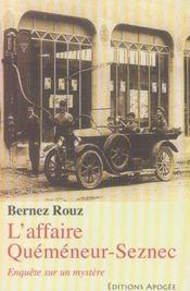 L'affaire quéméneur-seznec - Intérieur - Format classique