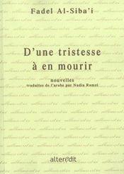 D'Une Tristesse A En Mourir - Intérieur - Format classique