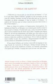 Oiseau De Saint-Ny - 4ème de couverture - Format classique