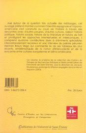 Rencontre Et Construction Des Identites - 4ème de couverture - Format classique