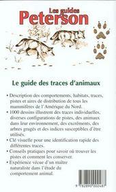 Le guide des traces d'animaux - 4ème de couverture - Format classique