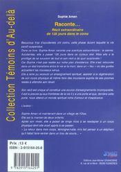 Raconte... - 4ème de couverture - Format classique