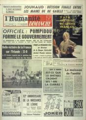 Humanite Dimanche (L') N°712 du 15/04/1962 - Couverture - Format classique