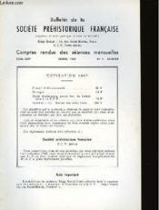 Bulletin De La Societe Prehistorique Francaise - Comptes Rendus Des Seances Mensuelles - Tome 64 - Annee 1967 - N°1 Janvier - Couverture - Format classique