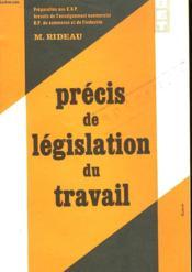 Precis De Legislation Du Travail - Couverture - Format classique