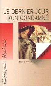 Le Dernier Jour D'Un Condamne - Couverture - Format classique