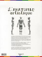 L'anatomie artistique - 4ème de couverture - Format classique