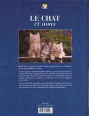 Le Chat Et Nous - 4ème de couverture - Format classique
