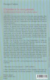 L'hermine et la croix gammée ; le mouvement breton et la collaboration - 4ème de couverture - Format classique
