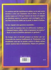 Mantras - 4ème de couverture - Format classique