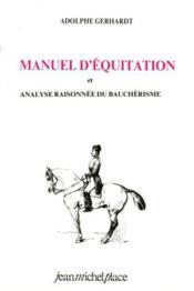 Manuel d'équitation - Couverture - Format classique