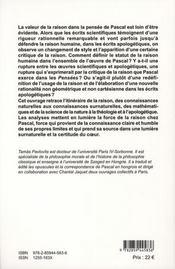 Rationalisme De Pascal - 4ème de couverture - Format classique