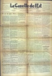 Gazette De L'Est (La) N°1512 du 07/09/1941 - Couverture - Format classique