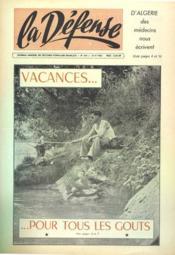 Defense (La) N°454 du 01/08/1962 - Couverture - Format classique