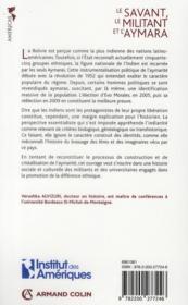 Le savant, le militant et l'aymara - 4ème de couverture - Format classique