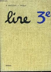 Lire Classe De Troisieme - Couverture - Format classique