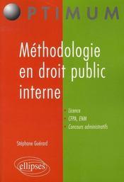 Méthodologie en droit public interne - Intérieur - Format classique