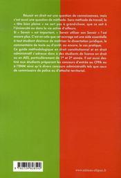 Méthodologie en droit public interne - 4ème de couverture - Format classique