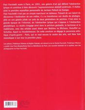 Paul Facchetti : Le Studio ; Art Informel Et Abstraction Lyrique - 4ème de couverture - Format classique